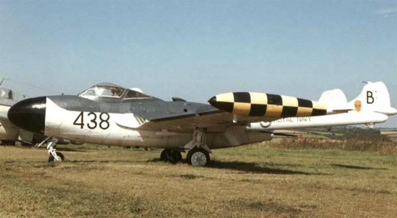 """Combatiente de combate de todo el tiempo inglés """"DH.112 Sea Venom"""" (1947-1965gg)"""