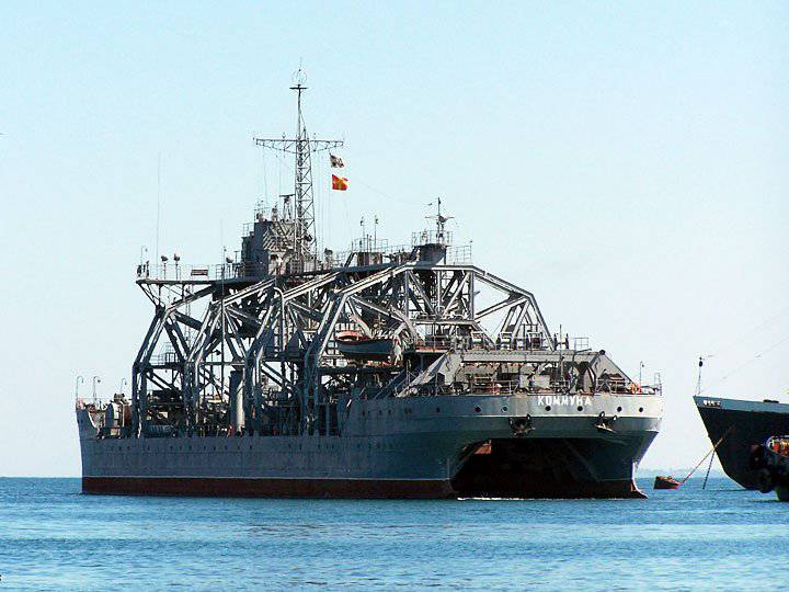 """The oldest rescue ship of the Russian Navy """"Commune"""" celebrated the centenary anniversary of the bookmark"""