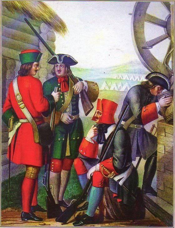 18 ноября 1699 года Петр I издал указ «О приеме на Великую Государеву службу в солдаты изо всяких вольных людей»