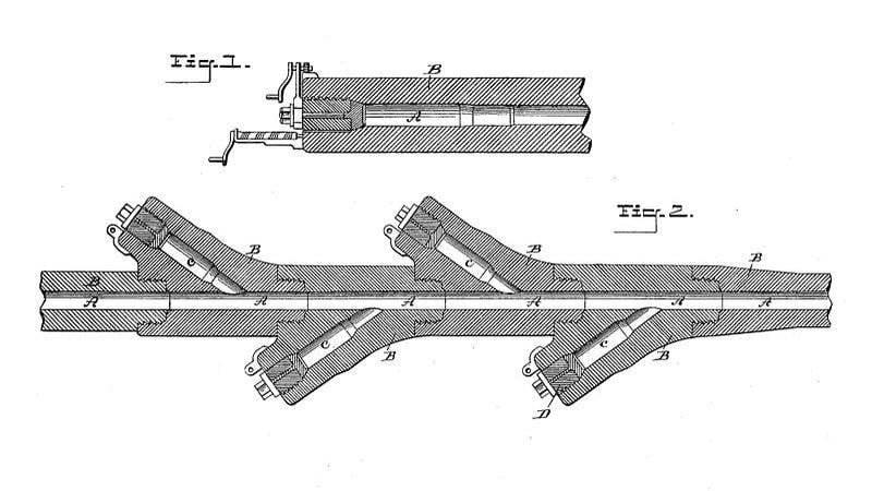 """Campione di arma per rappresaglia No.3 - Calibro 150mm """"Hochdruckpumpe"""" multi-camera a lungo raggio tedesco"""