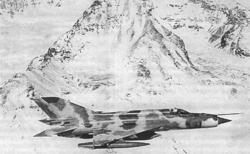 MiG-21 en Afganistán