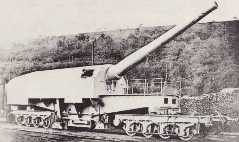 बड़े कैलिबर गन - रेलवे «कैनन डी 274 मिमी मॉडेल 1893 / 96s (फ्रांस)