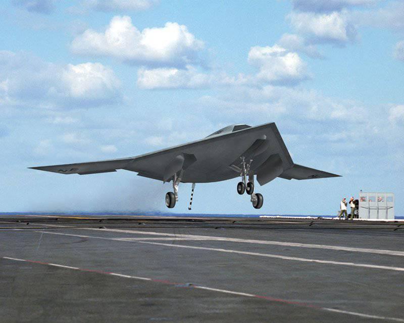 Nuevo UAV invisible estadounidense capaz de despegar de la cubierta de un portaaviones