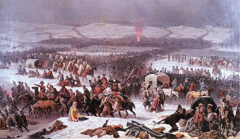 बेरेसिना में मस्कोवियों की भीड़ पर नेपोलियन की जीत और रूस द्वारा स्वीकार नहीं किए गए एक नए यूरोप के विचारों पर