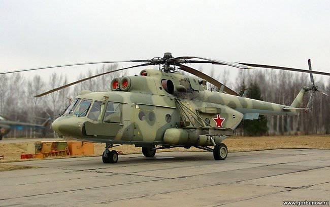 Nuevos helicópteros de transporte en paracaídas Mi-8MTV-5 han llegado al Distrito Militar del Sur