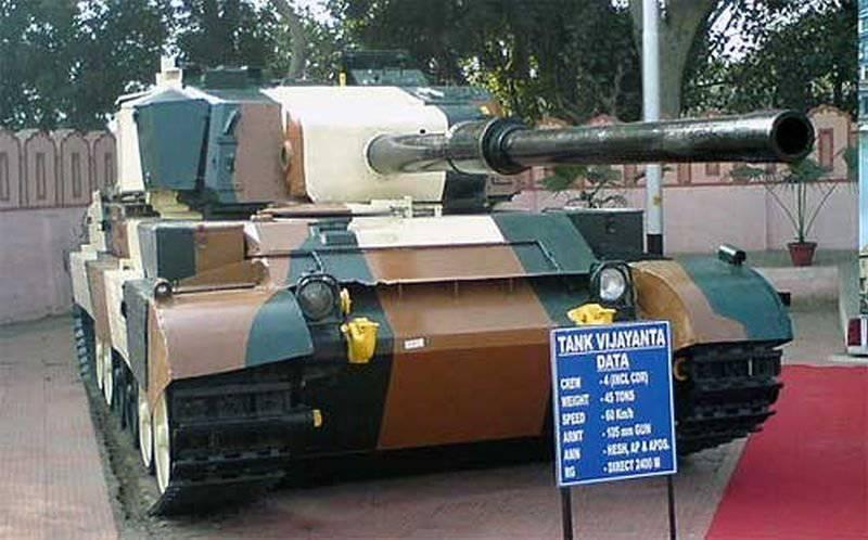 El principal tanque de batalla indio Vijayanta (Vickers Mk.1)