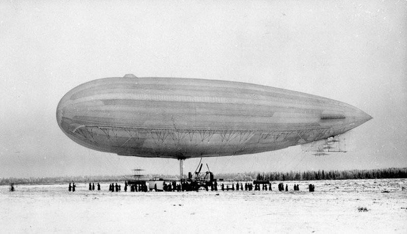 Russian airships up to 1917 year
