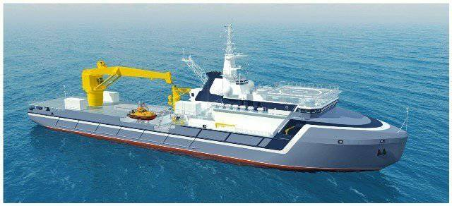 The Zvezdochka Ship Repair Center began construction of the vessel Akademik Aleksandrov for the Russian Navy