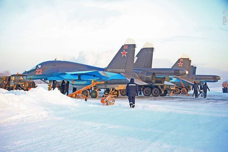 Cinco Su-34 llegaron a Voronezh