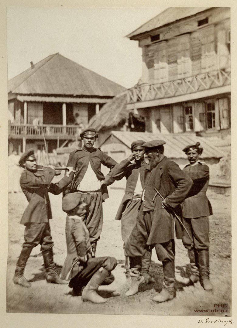 तस्वीरों में पूर्व क्रांतिकारी रूस। 1875-1876 में डॉन Cossacks।