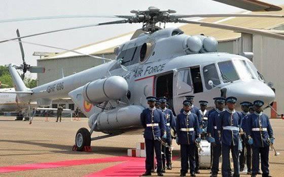 La Fuerza Aérea de Ghana recibió cuatro helicópteros Mi-171Sh