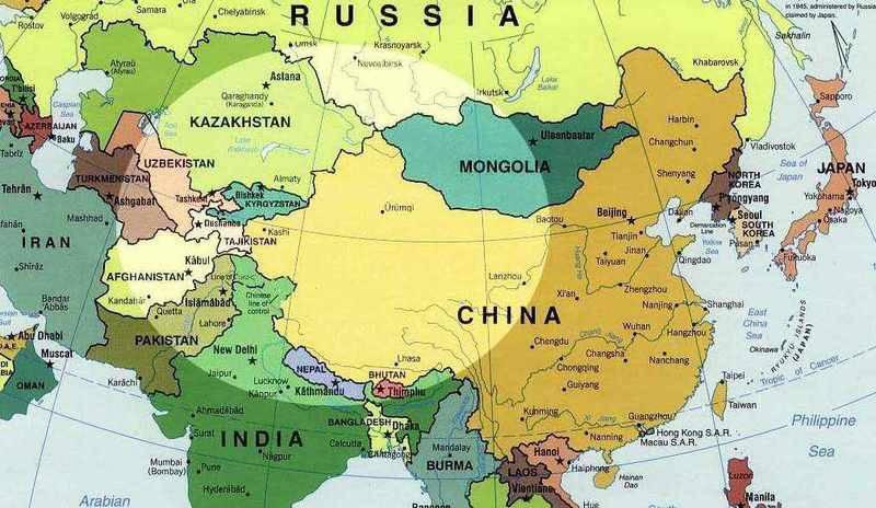 Redistribución euroasiática: China
