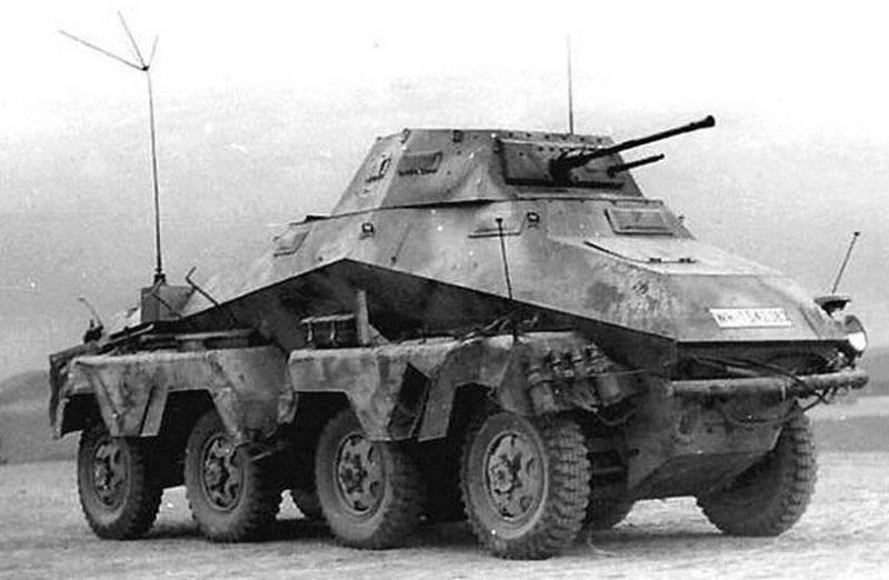 दूसरे विश्व युद्ध से जर्मनिक चार-पहिया ड्राइव ऑल-व्हील ड्राइव बख्तरबंद कारें। 2 का हिस्सा। परिवार Sd.Kfz। 231