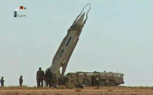 A Síria lançou dezenas de mísseis balísticos, de modo que eles não conseguiram os rebeldes