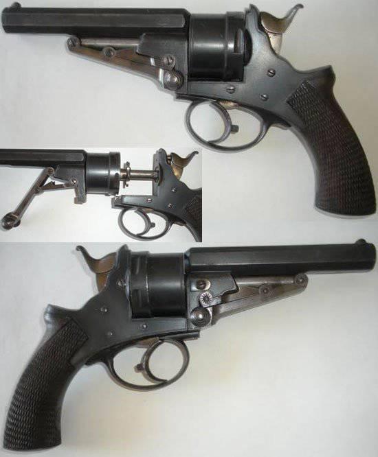 El revólver de Galan 1868 del año.