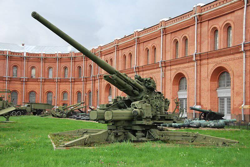 Pistola antiaérea soviética 130-mm KS-30 (1948 g.)