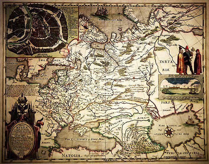 26 января 1525 г. создали первый печатный вариант карты Руси