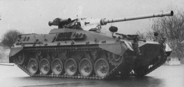 Begleitpanzer 57mm experimentado alemán (año 1977)