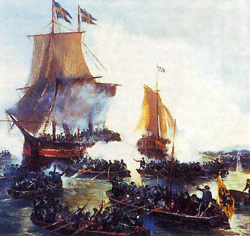 2 febrero 1701 se emitió un decreto de Pedro I, que marcó el inicio de la Flota Báltica