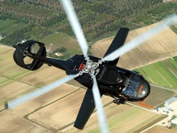 पायलट हेलीकॉप्टर Piasecki X-49A स्पीडहॉक