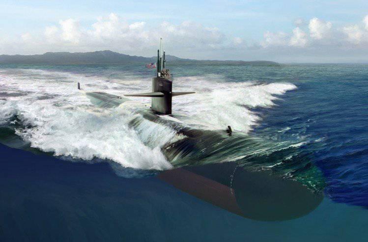 Underwater adversary. Los Angeles-class submarine