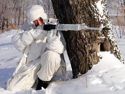 Francotiradores en Chechenia reciben una formación especial