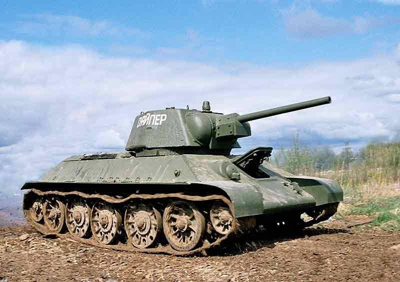 캡틴 A.V. Marievsky : 독일 차가 *** T-34에 어긋났습니다.