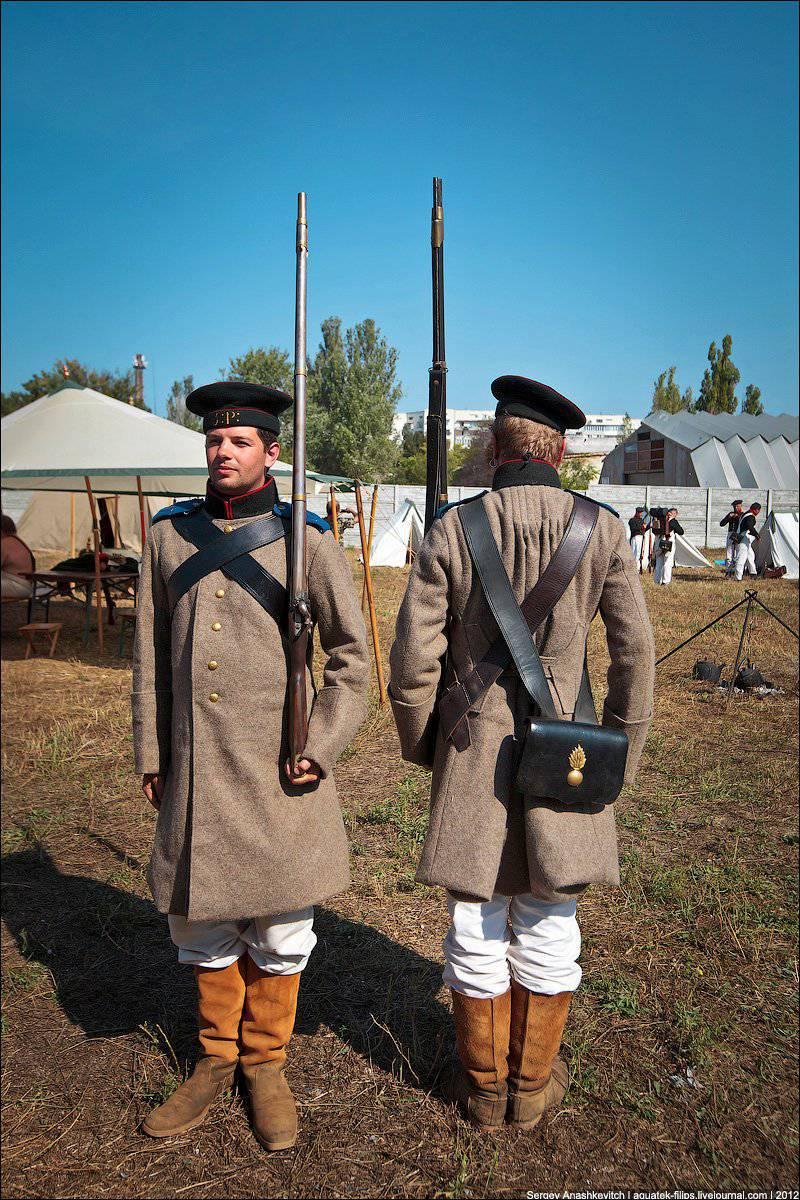 Historia del vestuario. Cazador del ejército ruso durante la guerra de Crimea