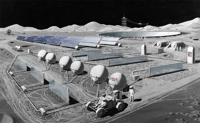 Pictures of the moon Fuel Production