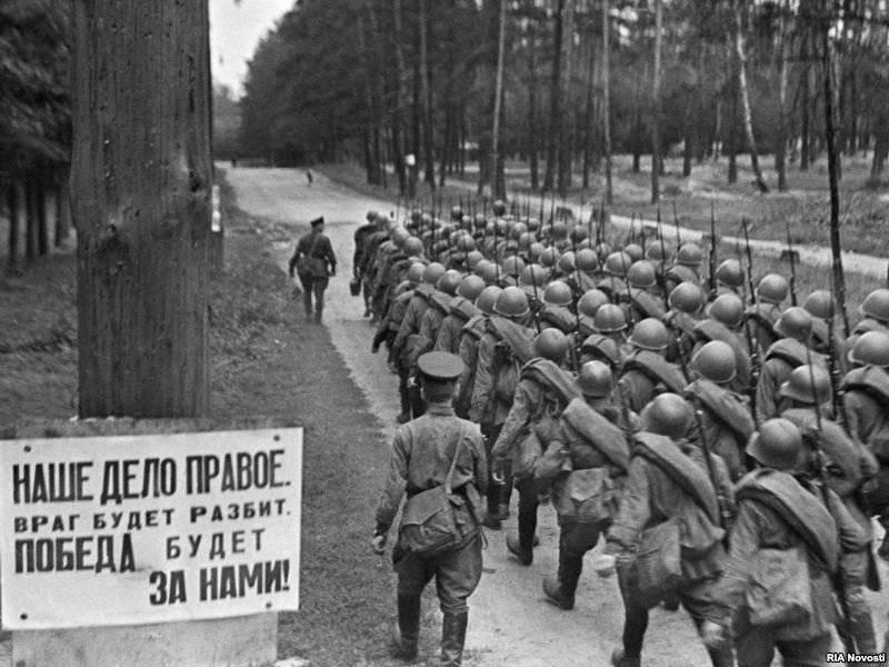 Freiwillige in der Nähe von Moskau während des Großen Vaterländischen Krieges