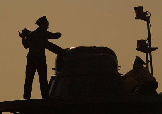 Entrenamiento de defensa aérea realizado en la flotilla del Caspio.