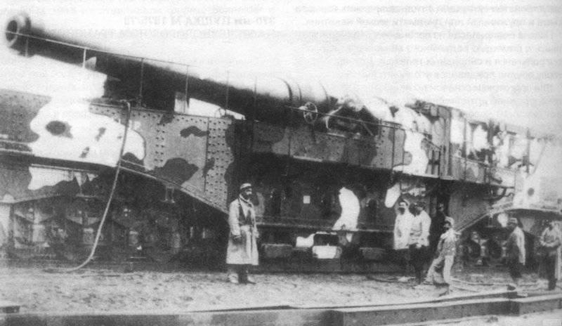 Пушки на железнодорожном транспортере. Французская 370-мм пушка М 1875/79