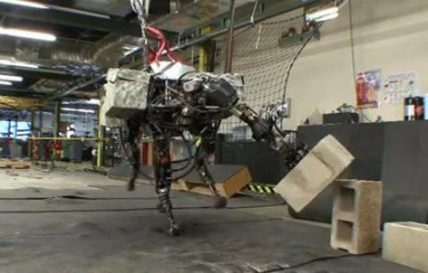 El robot BigDog tiene una mano