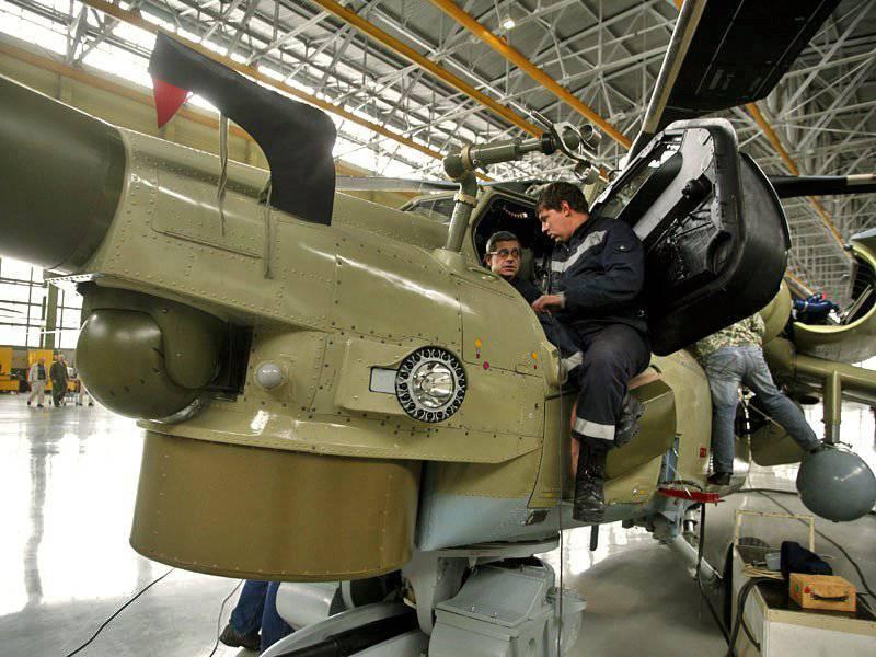 El montaje del primer helicóptero de entrenamiento de combate ruso Mi-28UB se lanzó en la empresa Rostov Rostvertol