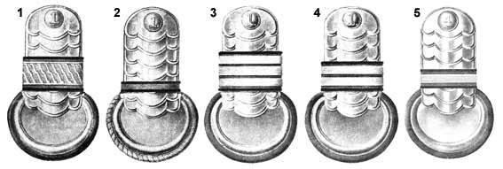 Insignes de l'armée russe. XVIII-XX siècle. Épaulettes