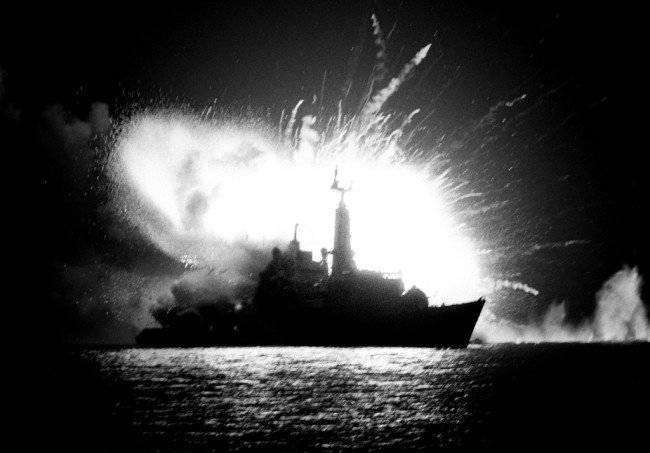 जहाजों की मौत। फ़ॉकलैंड युद्ध के एपिसोड