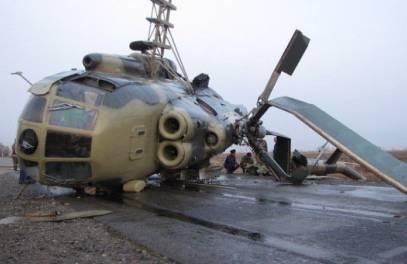 एमआई -8 हेलीकॉप्टर टेक-ऑफ पर दुर्घटनाग्रस्त हो गया