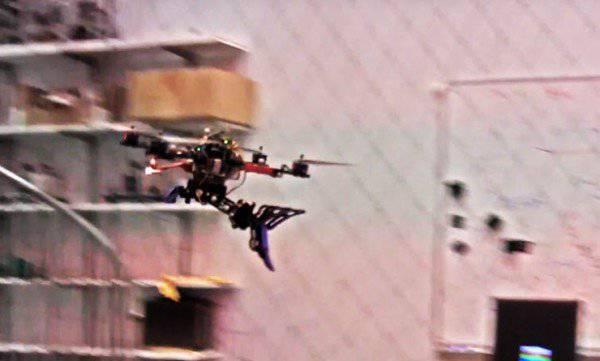 Drone-bird dalış ve avcı gibi av avlar