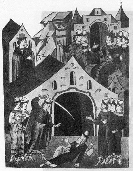 The death of the princes Yuri of Moscow and Dmitry the Terrible Ochi. Tver uprising 1327 of the year
