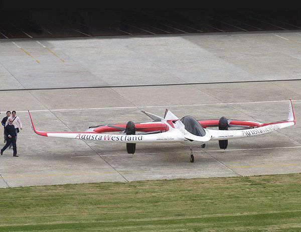 """AgustaWestland stellte das Cabrio """"Project Zero"""" vor"""