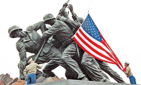 अमेरिकी जीत का झंडा