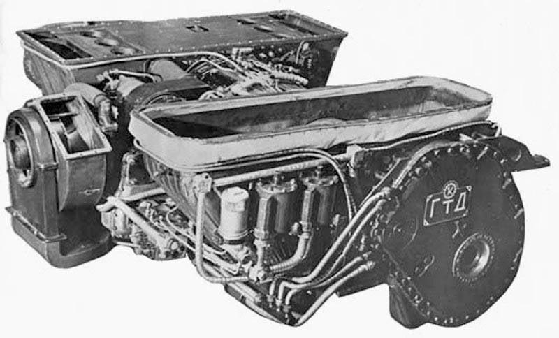 Motor de turbina de gas GTD-1