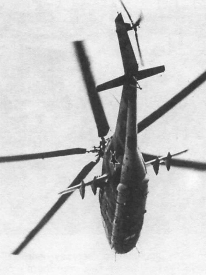 Années 40 au légendaire hélicoptère de combat Mi-24 (appartenant à 1) Création