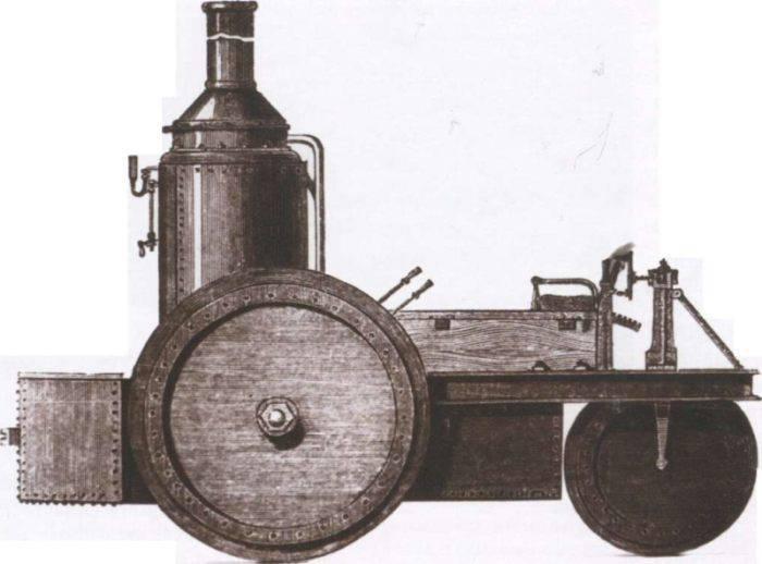 La primera aparición de tractores de vapor (ruthers) en el ejército ruso.