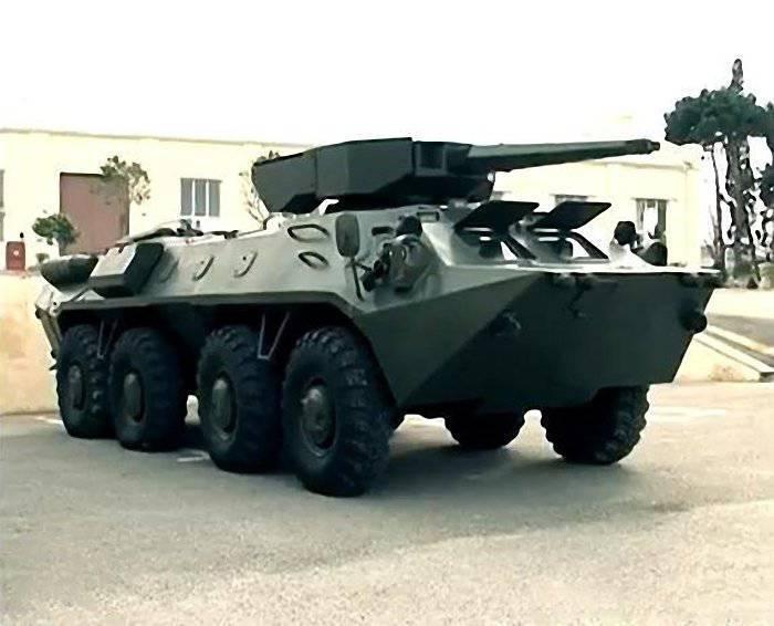 """Aserbaidschanische Modifikation des BTR-70M mit dem Modul """"Shimshek"""""""