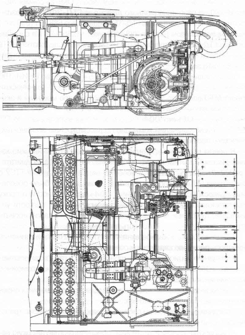 """Instalación del motor GTD-ZTP en la logística del tanque """"Objeto 004"""" (proyecto)."""