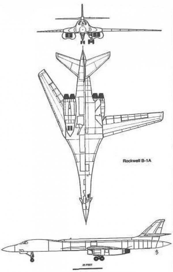Схема самолета В-1А