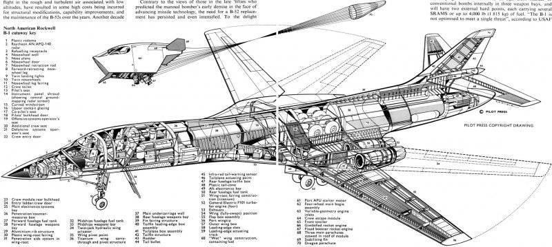 Схема членения конструкции В-1 В.