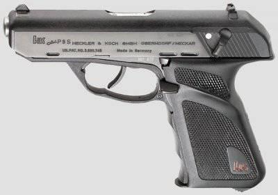 Пистолеты с полусвободным затвором H&K P9 и P9S
