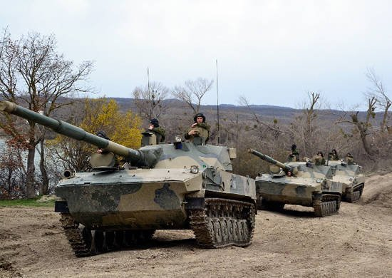In Kuban, command and staff exercises began with an airborne assault (mountain) formation of the Airborne Forces